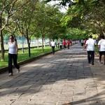 Marche urbaine à Colombo