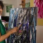 Teruni Wickramanayake, peintre abstrait