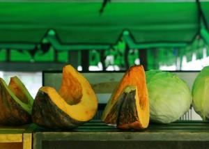 Légumes bio provenant d'une ferme près d'Anuradhapura